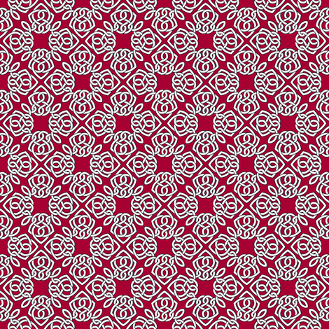 Square Knot Red fabric by shala on Spoonflower - custom fabric