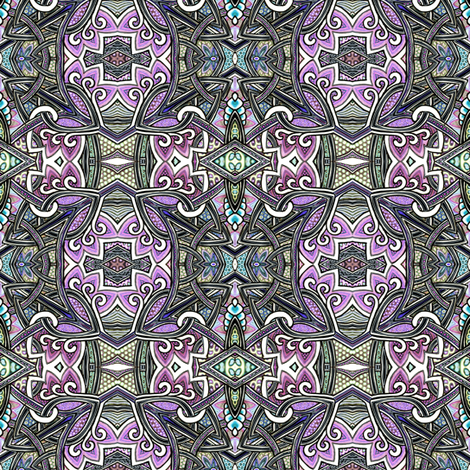 Darkly Celtic Evenings fabric by edsel2084 on Spoonflower - custom fabric