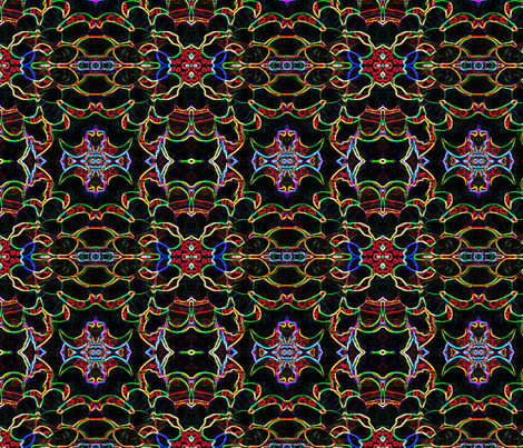 peacock plethora Neon fabric by debra_goley on Spoonflower - custom fabric