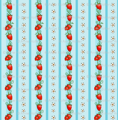 Strawberry Stripes Light Blue