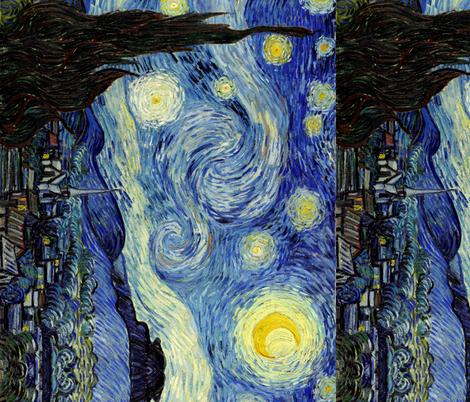 Van Gogh Starry Night Seamless Repeat fabric by ninniku on Spoonflower - custom fabric