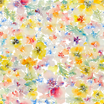 Watercolor Flowers, Spring 2013 Collection, No.1