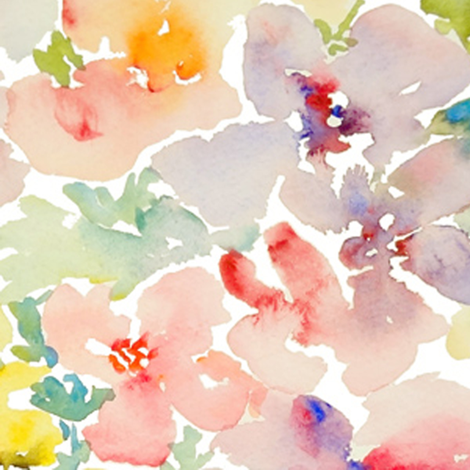Watercolor Flowers, Spring 2013 Collection, No.1 fabric by susan_magdangal on Spoonflower - custom fabric