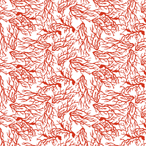 Coral fabric by mag-o on Spoonflower - custom fabric