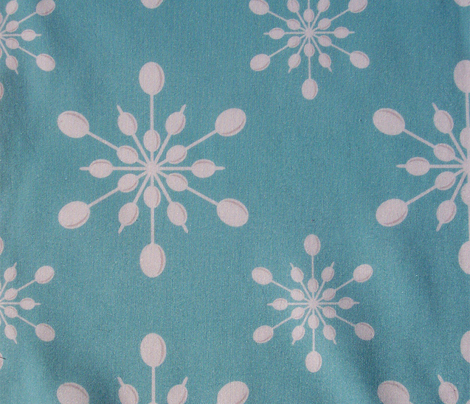 Vintage Plastic Snowflakes ~ on holiday blue