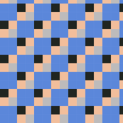 tiles - blue, beige, black,  grey