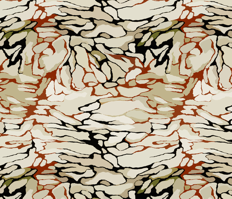 Beige stones fabric by lena_sokol on Spoonflower - custom fabric