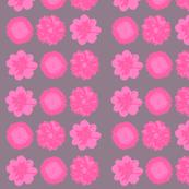 Pink flower on grey back drop-ed