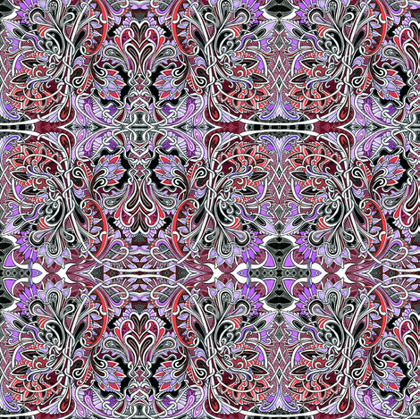 Knights of the Order of the Paisley fabric by edsel2084 on Spoonflower - custom fabric