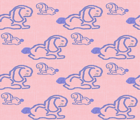 Bunny and Baby fabric by anniedeb on Spoonflower - custom fabric