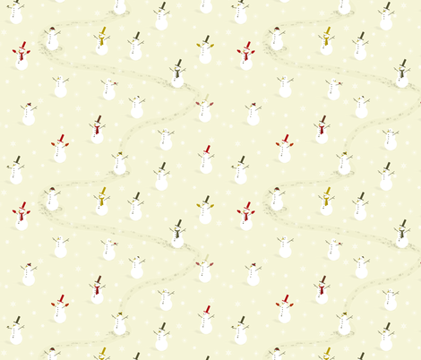 Mr Snowman fabric by candyjoyce on Spoonflower - custom fabric