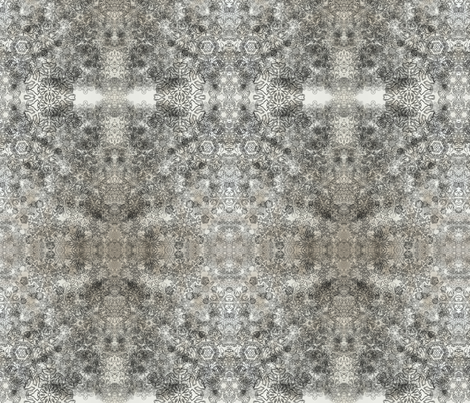 Snowflakes Black on White fabric by hado_labs on Spoonflower - custom fabric
