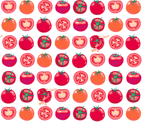 tomato polka splat - large scale fabric by coggon_(roz_robinson) on Spoonflower - custom fabric
