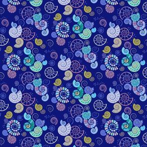 ammonites blue