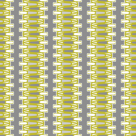 Danish Modern Chartreuse on Gray fabric by joanmclemore on Spoonflower - custom fabric