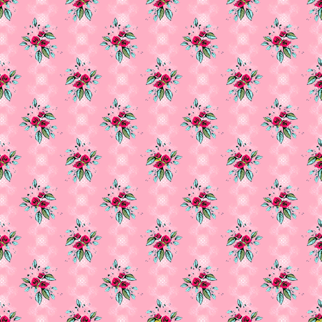 Sweetheart Roses fabric by joanmclemore on Spoonflower - custom fabric