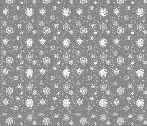 Snowflake_Fabric_for_Contest fabric by prettyhawk on Spoonflower - custom fabric