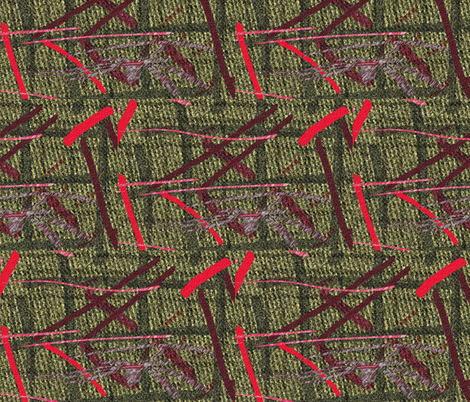 If the seeds from a maple tree were red . . . fabric by anniedeb on Spoonflower - custom fabric