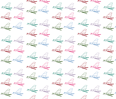 Multicolored Chicklettes fabric by borealchick on Spoonflower - custom fabric