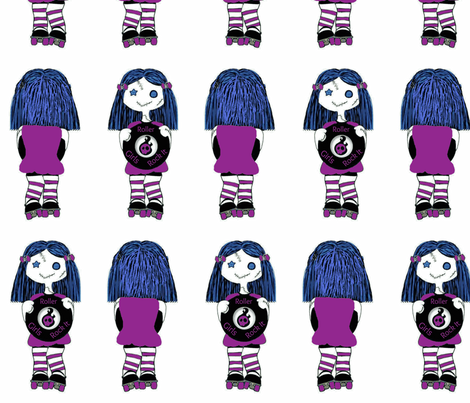 7 in Purple Rocking Derby Doll fabric by derbymom716 on Spoonflower - custom fabric