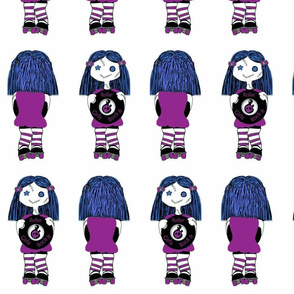 7 in Purple Rocking Derby Doll