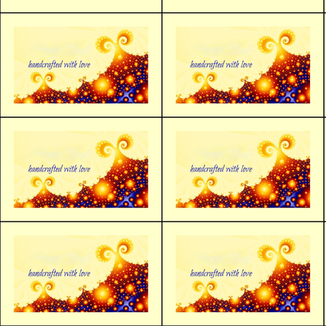 Sunny Day on Planet Whatchamacallit- fractal labels for quilts fabric by clotilda_warhammer on Spoonflower - custom fabric