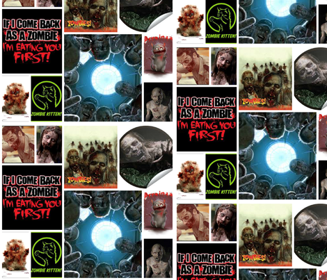 zombie fabric by danger6t9 on Spoonflower - custom fabric