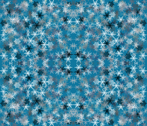 snowflakes fabric by craftyscientists on Spoonflower - custom fabric