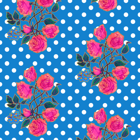 Rose Coordinate 2 fabric by jadegordon on Spoonflower - custom fabric