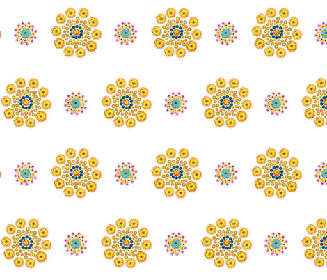 Millefiori Flowers fabric by pmegio on Spoonflower - custom fabric