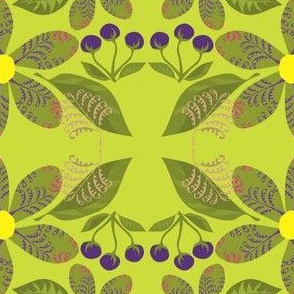 Flowers,Ferns&BerriesonPeridot