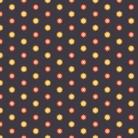Spikey Suns fabric by jumeaux on Spoonflower - custom fabric