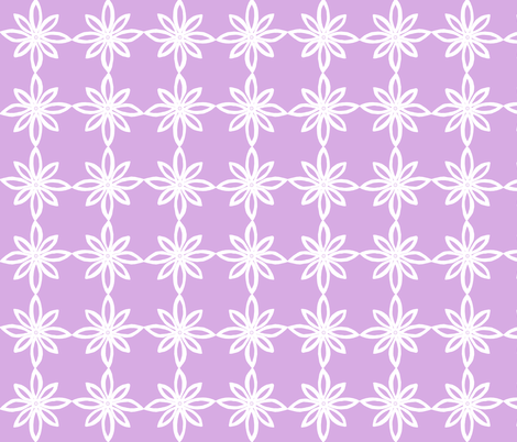 Simple Flower Pattern in Lavender and White fabric by martaharvey on Spoonflower - custom fabric