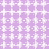 Simple Flower Pattern in Lavender and White