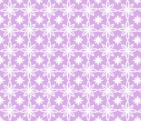 Pattern With 2 Flowers in Lavender and White fabric by martaharvey on Spoonflower - custom fabric