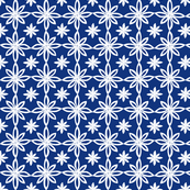 Pattern With 2 Flowers in Blue and White