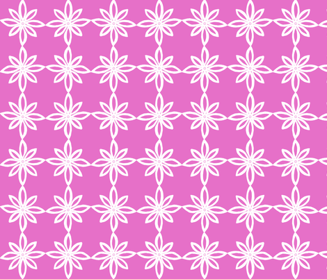 Simple Flower Pattern in Pink and White fabric by martaharvey on Spoonflower - custom fabric