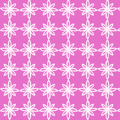 Simple Flower Pattern in Pink and White