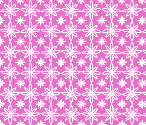 Pattern With 2 Flowers in Pink and White fabric by martaharvey on Spoonflower - custom fabric