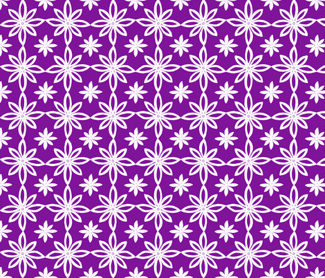 Pattern With 2 Flowers in Purple and White fabric by martaharvey on Spoonflower - custom fabric