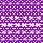 Pattern With 2 Flowers in Purple and White