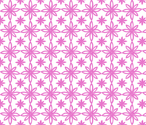 Pattern With 2 Flowers in White and Pink fabric by martaharvey on Spoonflower - custom fabric
