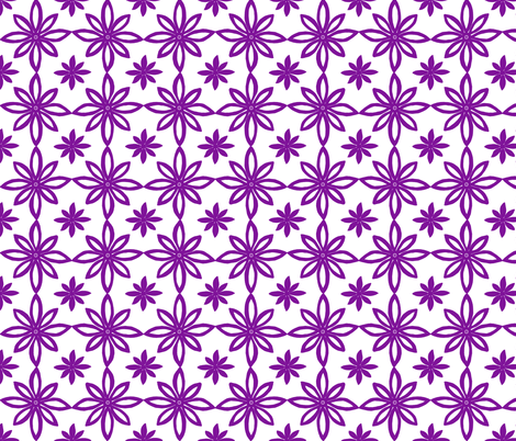 Pattern With 2 Flowers in White and Purple fabric by martaharvey on Spoonflower - custom fabric