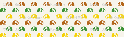 elephants_6cm_3row_yellow-green-brown