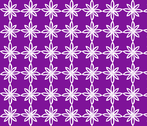 Simple Flower Pattern in Purple and White fabric by martaharvey on Spoonflower - custom fabric
