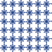 Simple Flower Pattern in White and Blue