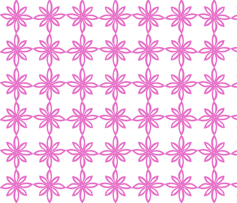 Simple Flower Pattern in White and Pink fabric by martaharvey on Spoonflower - custom fabric