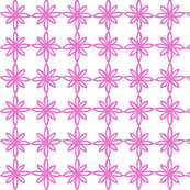 Simple Flower Pattern in White and Pink