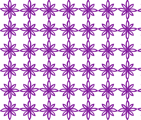 Simple Flower Pattern in White and Purple fabric by martaharvey on Spoonflower - custom fabric