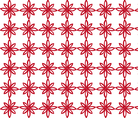 Simple Flower Pattern in White and Red fabric by martaharvey on Spoonflower - custom fabric